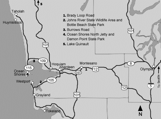 Grays Harbor Area Map